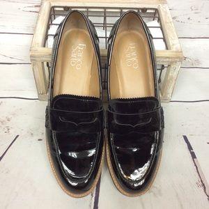 [Franco Sarto] Cedra Black Patent Penny Loafers